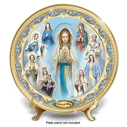 "Hector Garrido ""Visions Of Mary"" Heirloom Porcelain Plate"