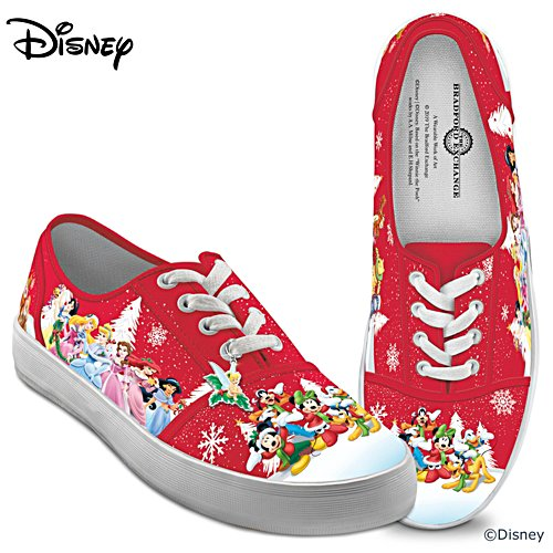 "Disney ""Warmhearted Greetings"" Canvas Shoes With Holiday Art"