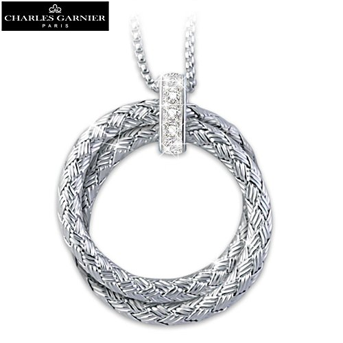 """Charles Garnier Paris """"Love For Always"""" Diamond Necklace"""