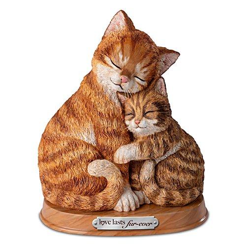 Katzen-Knuddelei — Katzenskulptur