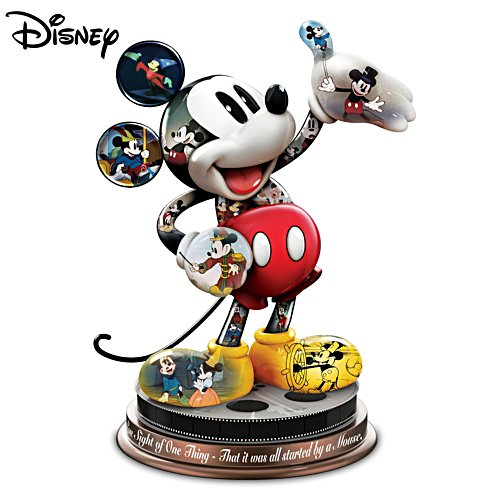 "Disney ""Mickey Mouse's Magical Moments"" Sculpture With Quote"