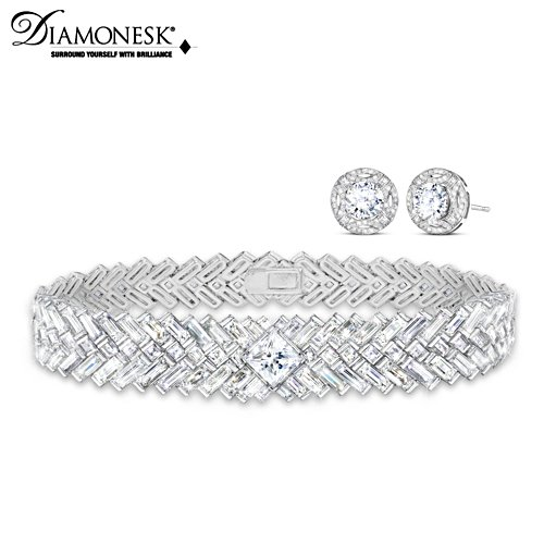 Royal Wedding-Inspired Diamonesk Earrings and Bracelet Set