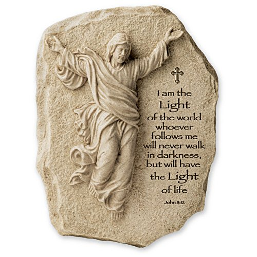 I Am The Light Of The World Inspirational Sculpted Jesus Plaque