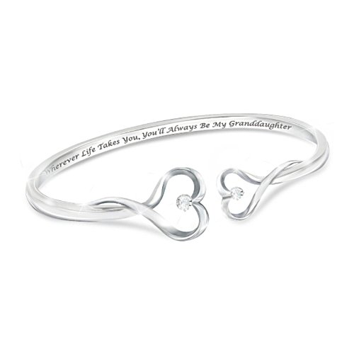 """""""Always My Granddaughter"""" Heart-Shaped Diamond Bracelet"""