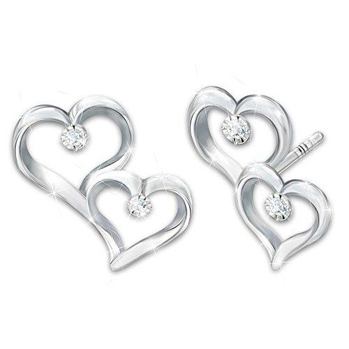 """""""Always My Granddaughter"""" Earrings With 4 Genuine Diamonds"""
