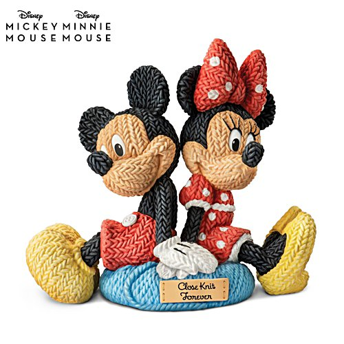 Disney Mickey Mouse and Minnie Mouse Close Knit Sculpture