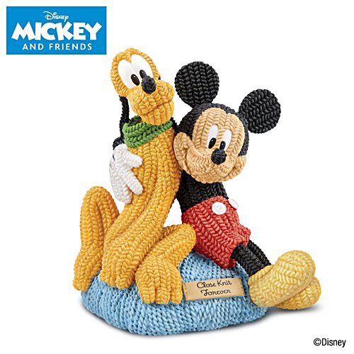 Disney 'Mickey Mouse and Pluto' Close Knit Sculpture