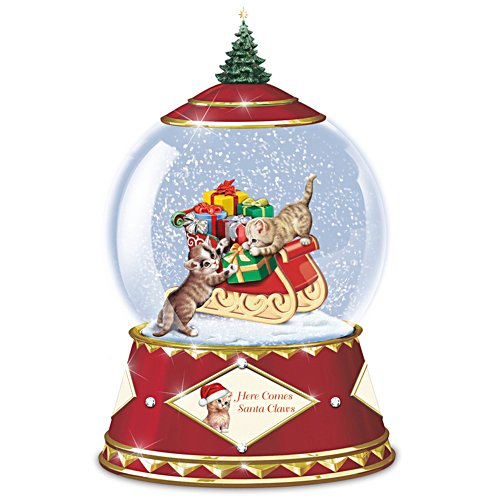 "Jürgen Scholz ""Here Comes Santa Claws"" Musical Glass Snowglobe"