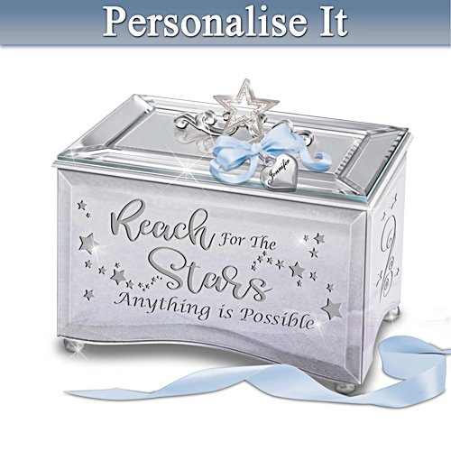 Granddaughter, Reach for the Stars Personalised Music Box