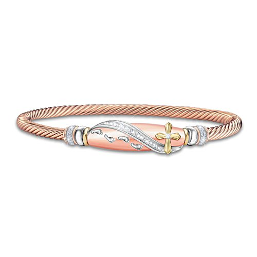 'Footprints In The Sand' Copper Wellness Ladies' Bracelet