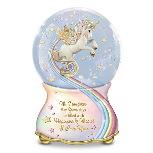 """My Daughter, You Are Magical"" Musical Glitter Globe"