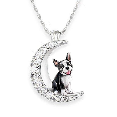 'I Love My Boston Terrier To The Moon And Back' Ladies' Pendant