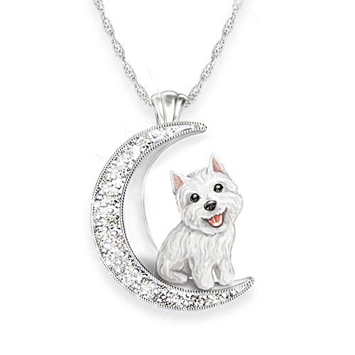 'I Love My Westie To The Moon And Back' Ladies' Pendant
