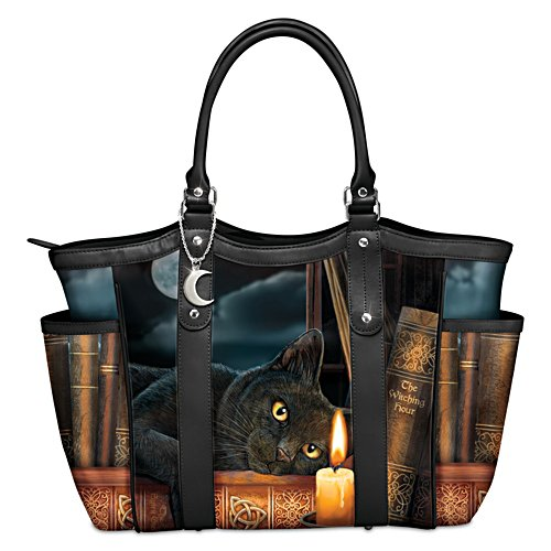 "Lisa Parker ""Witching Hour"" Black Cat Art Women's Tote Bag"