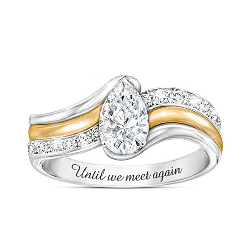 """""""Remember Me"""" Diamond Ring With Over 1 Carat Of White Topaz"""