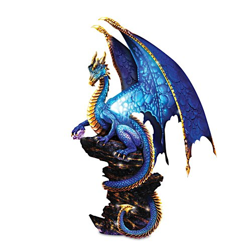 """Mystic Treasures"" Illuminated Dragon Sculpture"