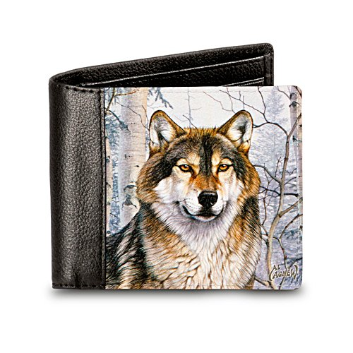 "Al Agnew ""Wild Wolf"" Men's RFID Blocking Leather Wallet"