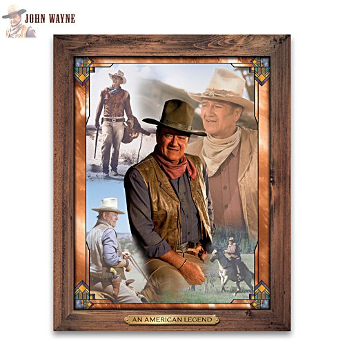 """The Legend Of John Wayne"" Self-Illuminating Wall Decor"