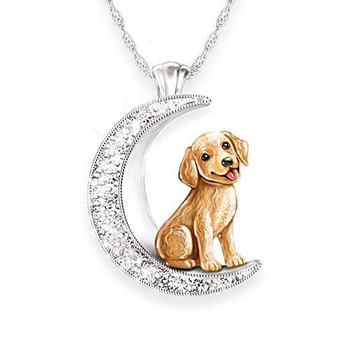 Mein treuer Golden Retriever — Silberplattierter Hunde-Anhänger
