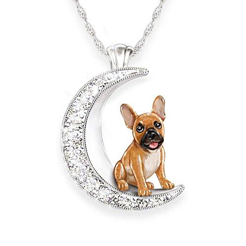 Meine treue Bulldogge — Silberplattierter Hunde-Anhänger