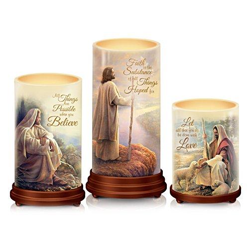 Greg Olsen 'Pillars Of Faith' Bible Candle Set