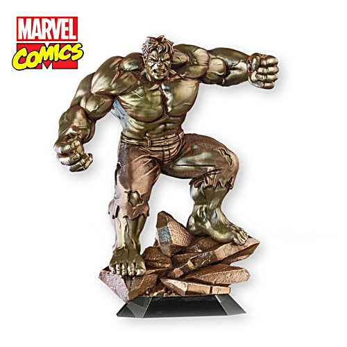 MARVEL® COMICS Cold-Cast Bronze Hulk Sculpture