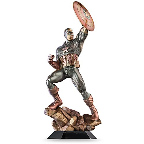 MARVEL® COMICS Cold-Cast Bronze Captain American Sculpture