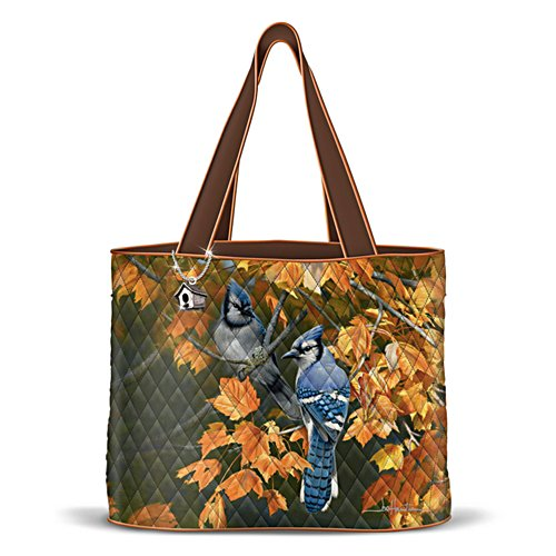 Song Birds Quilted Tote
