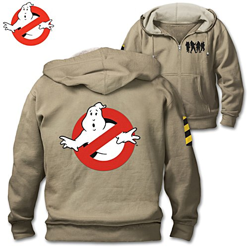 """Ghostbusters"" Men's Hoodie With Embroidered Patches"