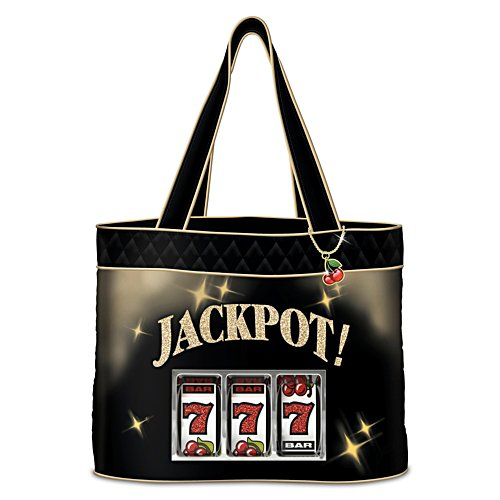 'Jackpot!' Women's Quilted Tote Bag With Cherry Charm