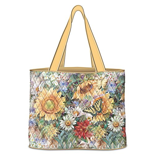 """Sunflower Splendour"" Tote Bag With Lena Liu Artwork"