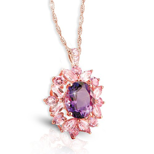 """Amethyst Radiance"" Ladies' Pendant Necklace"