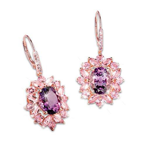 'Amethyst Radiance' Ladies' Earrings