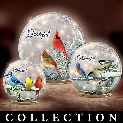 Illuminated Hautman Brothers Songbird Glass Globe Collection