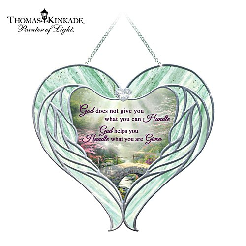 Thomas Kinkade Inspirational Glass Suncatcher