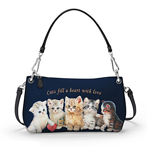 'Cats Fill A Heart With Love' 3-Style Handbag