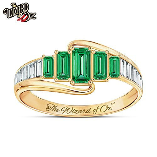 "THE WIZARD OF OZ ""Emerald City"" Diamonesk Ring"