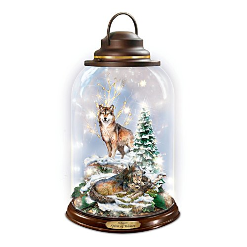 Al Agnew 'Spirit Of Winter' Illuminated Glass Cloche Lantern