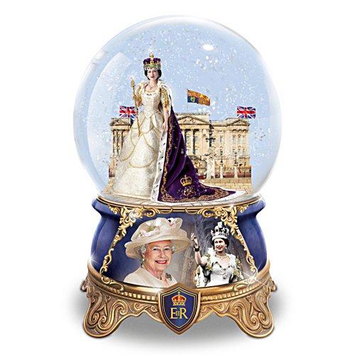 """Queen Elizabeth II Coronation"" Musical Glitter Globe"