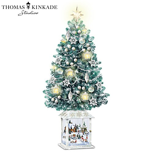 Thomas Kinkade 'Festival Of Lights' Illuminated Tabletop Christmas Tree