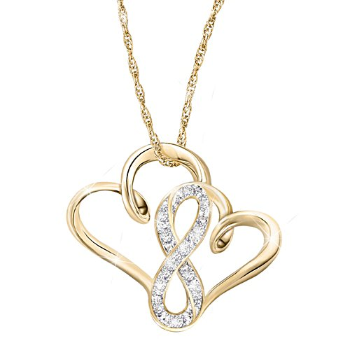 """""""A Mother & Daughter's Forever Love"""" Diamond Necklace"""