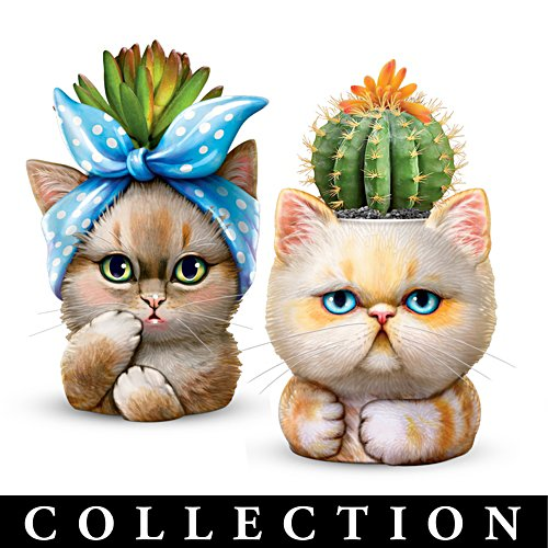 'Purr-fect Planters' Cat Succulent Sculpture Collection