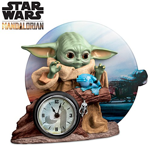 STAR WARS The Mandalorian 'The Child' Sculptural Desk Clock