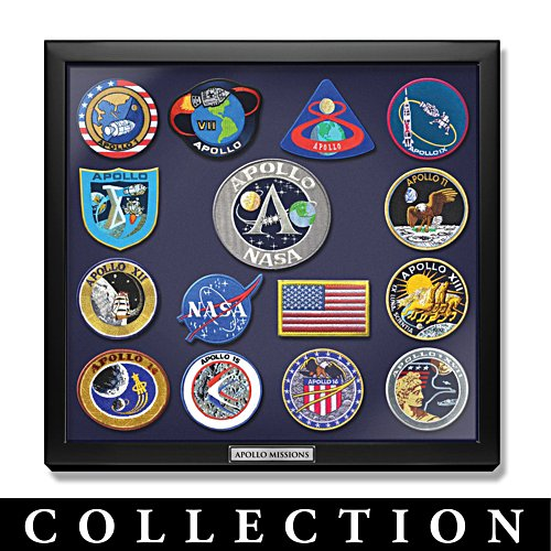 Apollo Mission Replica Embroidered Patches With Display