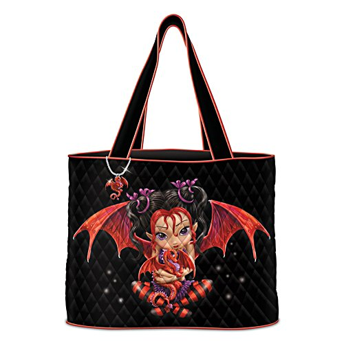 Jasmine Becket-Griffith Fairy Art Tote Bag With Dragon Charm