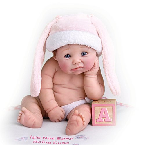 Miniature Baby Doll With Hat And Blanket
