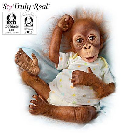 'Baby Babu' Poseable Orangutan Doll