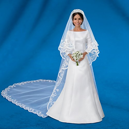 The Meghan Markle Royal Wedding Porcelain Bride Doll