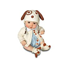 He's Doggone Cute Miniature Realistic Baby Doll