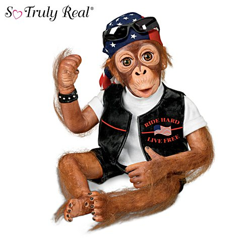 Simon Laurens Lifelike Biker Monkey Doll